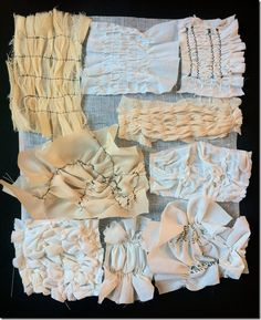 Amazing array of fabric manipulation (not a tutorial)