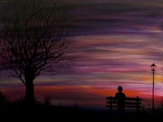 Acrylic Painting Ideas | Painting I did yesterday. Was in the mood for a nice silhouette of ...