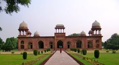 Mariyam's Tomb - This unique tomb in red sandstone was built in memory of Emperor Akbar's wife Mariyam Zamani. The tomb has some exceptional carvings. #Agra