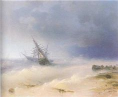 Tempest - Ivan Aivazovsky - Completion Date: 1872