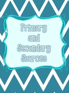 Your students will be able to confidently tell the difference between primary and secondary sources and use examples after using this resource. $2