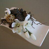 Prodané zboží uživatele jircice | Fler.cz Dried Flower Arrangements, Vase Arrangements, Flower Vases, Dried Flowers, Pantry Organisation, Artificial Plants, Easter Crafts, Wreaths, Jute