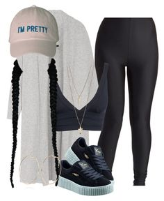 dress it up and make it real for me by xx-speaker-knockerz-xx on Polyvore featuring polyvore, fashion, style, Joseph, Puma, River Island and clothing