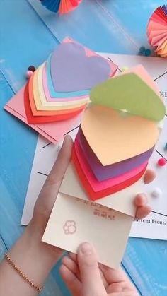 Diy Crafts Hacks, Diy Crafts For Gifts, Creative Crafts, Crafts To Make, Cool Paper Crafts, Paper Crafts Origami, Fun Crafts, Birthday Gifts For Boyfriend Diy, Diy Cards
