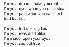 Sad but True- Metallica lyrics