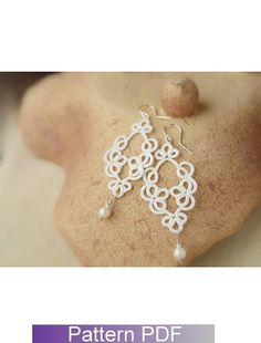 Tatting Pattern Miss Lulu tatted lace earrings by TattingPatterns, $3.25