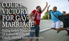 Supreme Court Rules that DOMA is unconstitutional as a deprivation of the equal liberty of persons that is protected by the Fifth Amendment. : news Funny Pics, Funny Pictures, Fifth Amendment, News Us, Supreme Court, Denial, Equality, Victorious, Something To Do