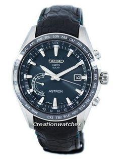 Seiko Astron Titanium GPS Solar World Time Japan Made SSE115 SSE115J1 SSE115J Men's Watch