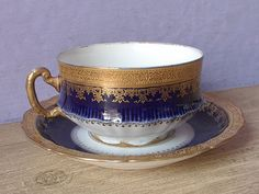 Antique Theodore Haviland Limoges teacup and by ShoponSherman