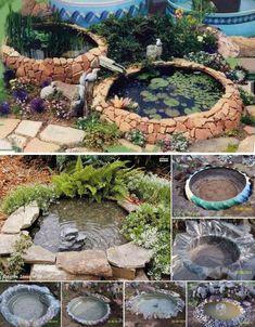 DIY tyre Ponds #diy #gardening
