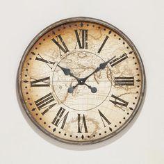 7785da83660 Vincenzo World Map Wall Clock