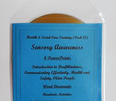Useful for Unit 34 Introductory Awareness of Sensory Loss and Unit 93 Support Effective Communication with Individuals with a Sensory Loss (QCF Diploma Level 2) and Unit 31 Understand Sensory Loss, Unit 107 Promote Effective Communication with Individuals with a Sensory Loss. Can be used by trainers, training agencies, care settings etc. for use in direct awareness training as well as part-time and full-time courses.