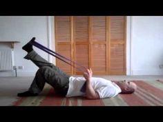 Lying hamstring stretch - Chris Reynolds Osteopathy & Physiotherapy - YouTube