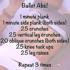 Ballet ab workout