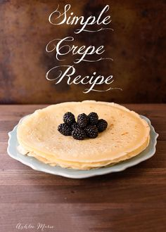 everyone loves these easy and simple crepes, this recipe is a must try, it's perfect