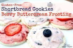 Gluten-Free Shortbread Cookies with Berry Buttercream Frosting