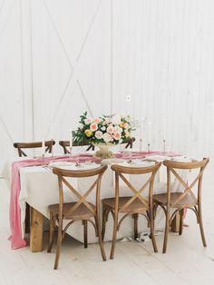 Garden inspired table decor: http://www.stylemepretty.com/2016/01/01/pantone-rose-quartz-bridal-inspiration-shoot/ | Photography: Tenth & Grace - http://www.tenthandgrace.com/