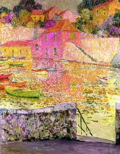 The Harbor, Saint-Jean-Cap-Ferrat - Henri Le Sidaner