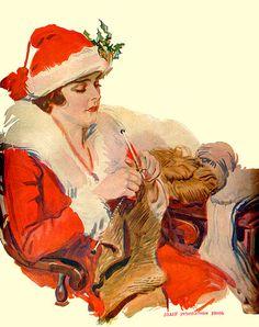 Christmas knitter