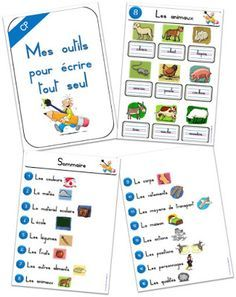 My tools for writing alone: self-help writing in CP (Teacher Charlotte) Montessori Activities, Educational Activities, Learning Activities, Kids Learning, French Teacher, Teaching French, Core French, French Classroom, French Language Learning