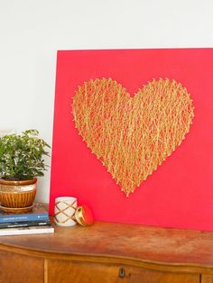 Say those three magic words with a handcrafted string art heart. The best part? Your gift recipient can display the artwork in their home year round. Get the step-by-step instructions.