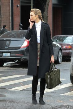 Karlie Kloss is seen out walking while chatting on her phone in New York City on January 09, 2017.