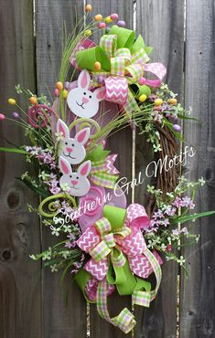 EASTER BUNNY GRAPEVINE WREATH! READY FOR YOU! Check out this item in my Etsy shop https://www.etsy.com/listing/269252218/easter-bunny-wreath-easter-bunny-wreaths