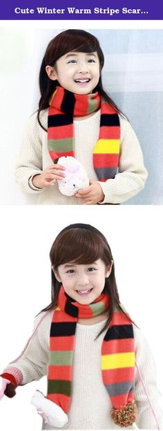 Cute Winter Warm Stripe Scarf with Rabbit For 2-8 year-old Girls (Orange). Ships from Hongkong. Please carefully select the correct size of products for your kids. For ages: 2-8 years old. Material: Cotton warm and comfortable soft Length: 135cm (included) -175cm (free). Season: Winter. Worn methods: cross from one side of the hole through the other side of the scarf is easy to use and stylish cute. The actual color of product might have slightly different from the color you seen in the...