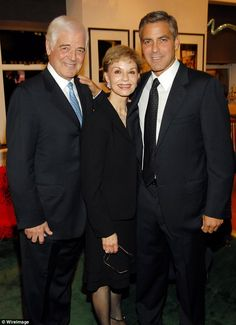 George Clooney with His parents