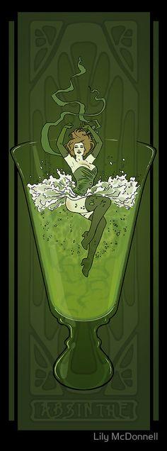 Art Nouveau Absinthe Poster