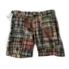 "Ralph Lauren Classic Fit Madras #shorts size 34 patchwok cotton 9"" inseam preppy RalphLauren visit our ebay store at  http://stores.ebay.com/esquirestore"