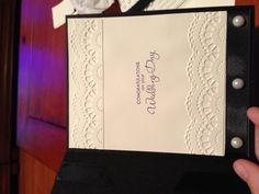 Midnight Mocha Stampin' Up DSP wedding card inside.