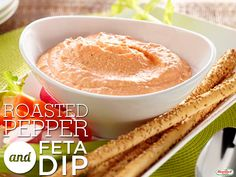 Roasted Pepper and Feta Dip #tailgating #hormelfoods #recipe