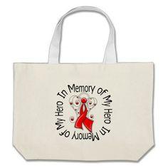 In Memory of My Hero Stroke Angel Wings Bags by giftsforawareness.com #StrokeAwareness #StrokeAwarenesstotebags