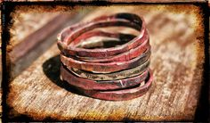 Wabi sabi stacking rings Copper stacking rings Handmade ring Handmade jewelry Hammered ring Oxidized ring on Etsy, $50.53