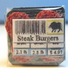 Steak Burgers Package | Mary's Dollhouse Miniatures
