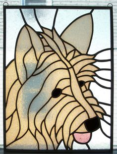 Stained+Glass+West+Highland+White+Terrier+Portrait+by+MicahsGlass,+$165.00