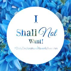 #DailyDeclarations I shall not want!  ✡The Lord is my shepherd, I shall not be in want.-Psalm 23:1   #Blessed #Scriptures #SpeakLife #WordPower #Affirmation #Bible #BibleVerses #Tanach #inspiration