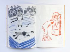 Wobby #5, Risograph printed magazine. Page left by Marjolein Schalk, right by Dutch artist Stijn Peeters.