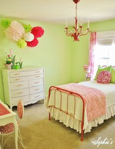 "DIY::""Bright and Cheery Girls Bedroom...On a Budget"""