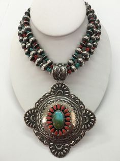Native American Sterling Silver Navajo Handmade Royston Turquoise Necklaces   eBay