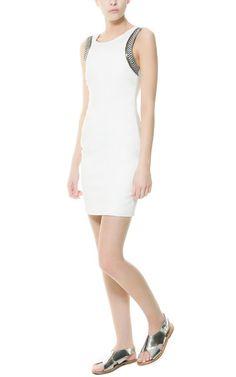 SLEEVELESS DRESS WITH APPLIQUÉ - Dresses - TRF | ZARA United States