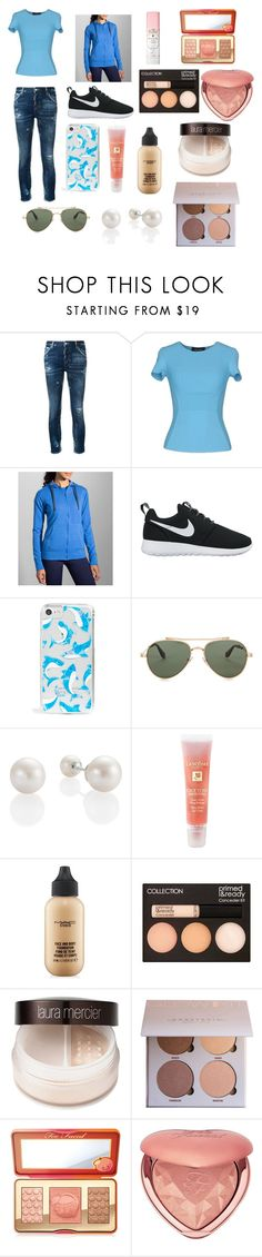 """""""Untitled #53"""" by xdhx16 ❤ liked on Polyvore featuring Dsquared2, Brooks, NIKE, Skinnydip, Givenchy, Lancôme, MAC Cosmetics, Laura Mercier and Too Faced Cosmetics"""