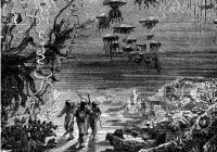 Sci-fi book illustrations from the 1800s by Alphonse de Neuville