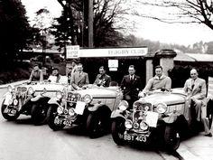 1935 Singer Nine Le Mans 'Ruddy Team' Trials Car Vintage Photo