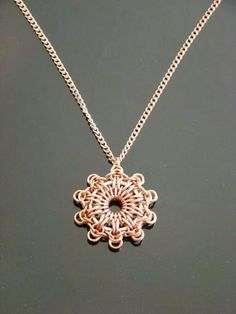 Chainmail patterns chain maille flower pendant necklace in chainmail patterns chain maille flower pendant necklace in iridescent white swarovski chainmail jewelry pinterest iridescent swarovski and mozeypictures Image collections