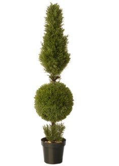 National Tree 60 Inch Juniper Cone and Ball Topiary Tree in Green Round Plastic Pot (LCYT4-700-60) ** Check out this great product. (This is an affiliate link) #CozyHomeDecor