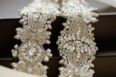 Bridal belts and sashes - Style S47 Couture beaded bridal belts style S47…
