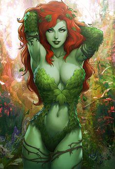 Gotham Sirens Poison Ivy Premium Art Print