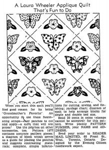 Laura Wheeler Quilt Pattern – Flower of Spring – Q is for Quilter